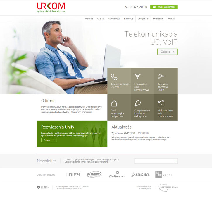 Urkom - strona www