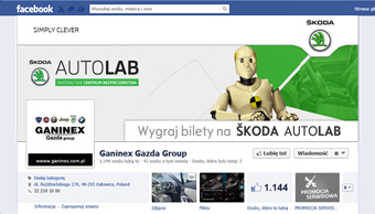 Profil facebook - cover photo Skoda Autolab