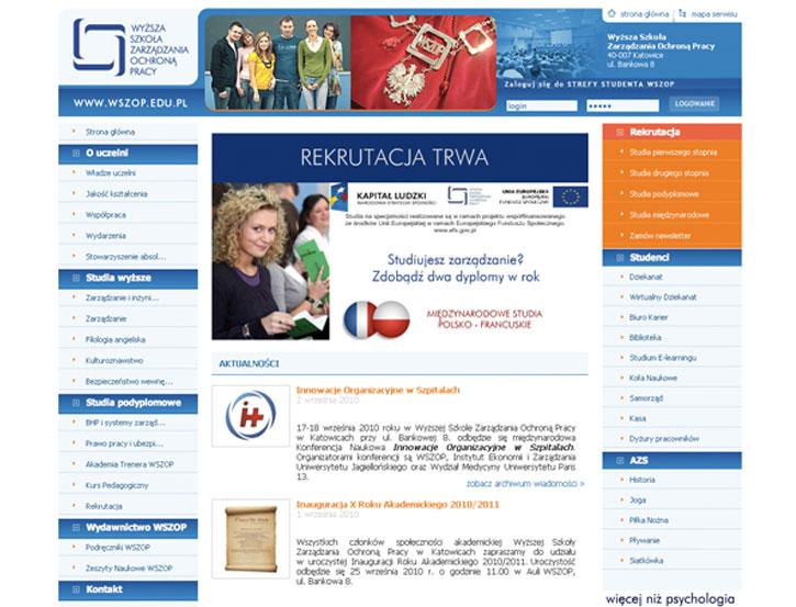 Wyższa Szkoła Zarządzania Ochroną Pracy - serwis www