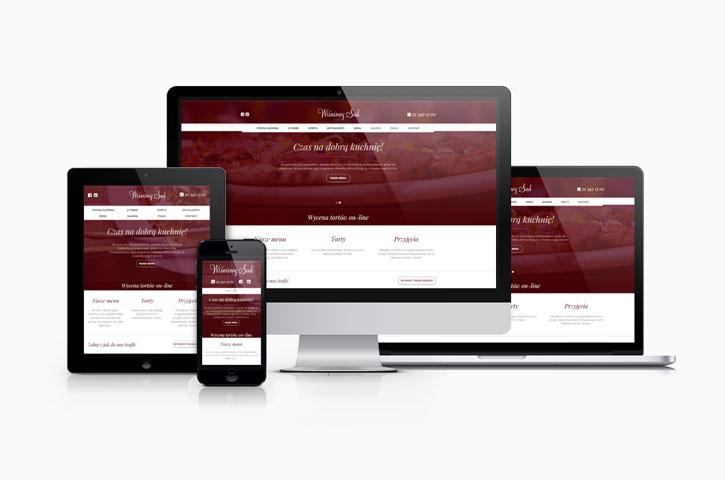 Strona internetowa Restauracji Wiśniowy Sad