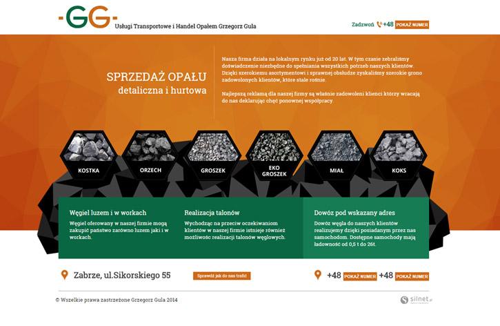 Usługi Transportowe i Handel Opałem Grzegorz Gula - strona wizytówkowa