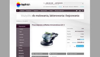 Sklep internetowy topfinish - lista produktów