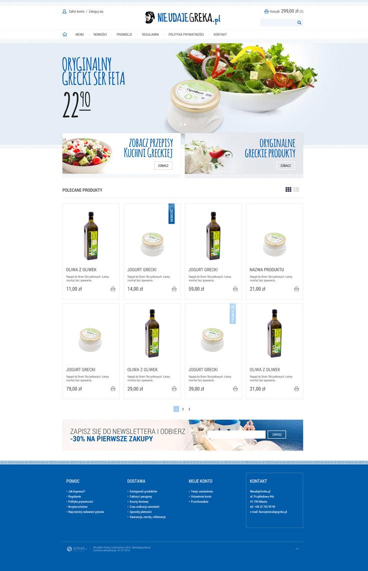 Sklep internetowy www.nieudajegreka.pl