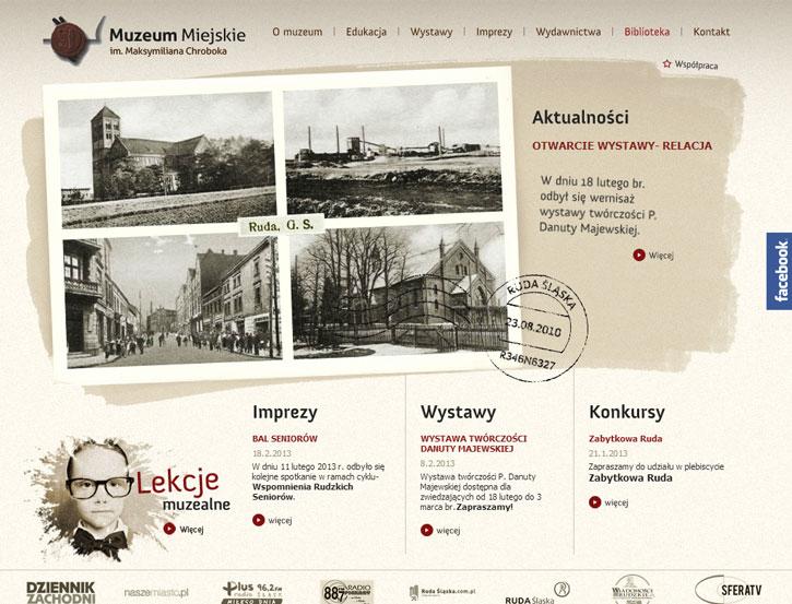 Muzeum Miejskie - serwis internetowy