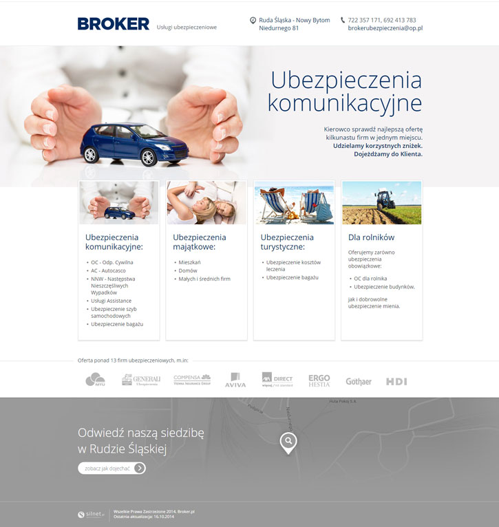 Broker - wizytówkowy serwis www