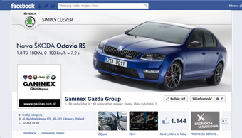 Profil facebook - cover photo Skoda Octavia RS