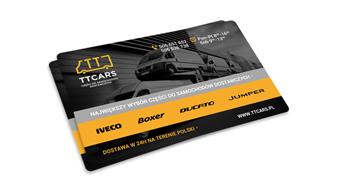 TT Cars - karta biznesowa