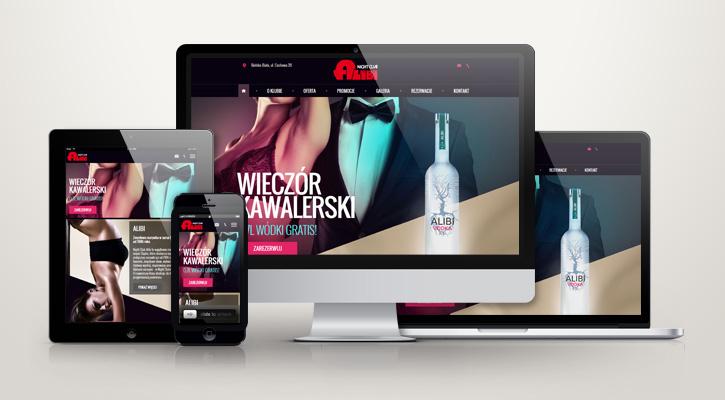 Strona WWW dla Klubu Alibi