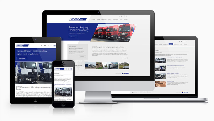 SpeedTransport - strona internetowa
