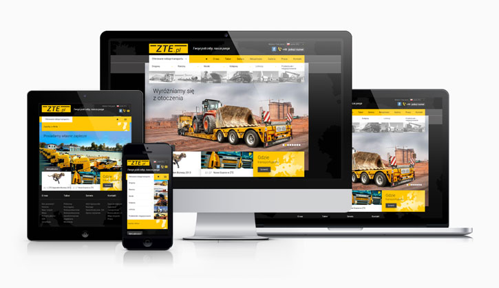 ZTE - responsywny serwis www
