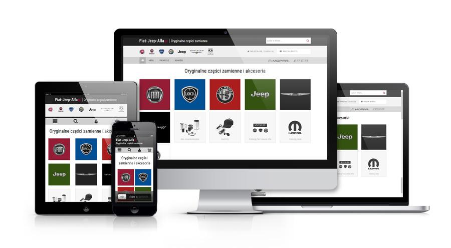 Stworzyliśmy sklep internetowy z częściami i akcesoriami samochodowymi dla fiat-jeep-alfa.pl