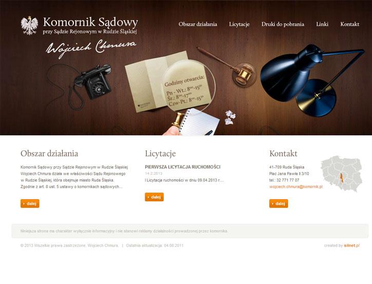 Komornik Wojciech Chmura - serwis www