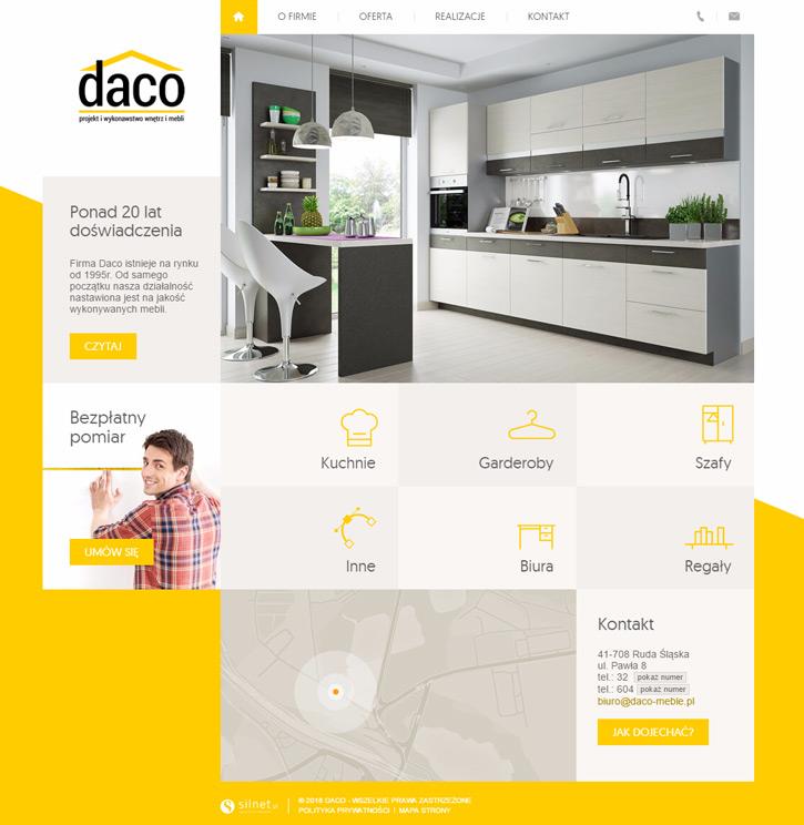 Daco - strona internetowa