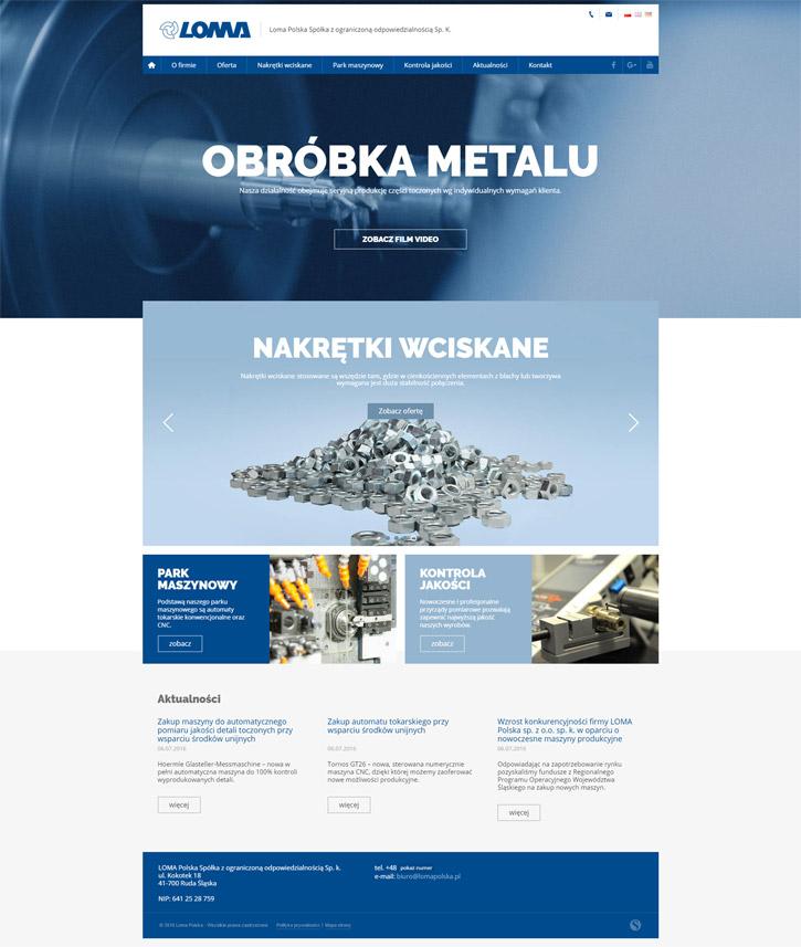 Strona internetowa www.lomapolska.pl