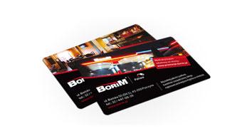 Restauracja Borim - wizytówki reklamowe