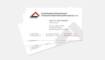 ZBM - wizytówka imienna