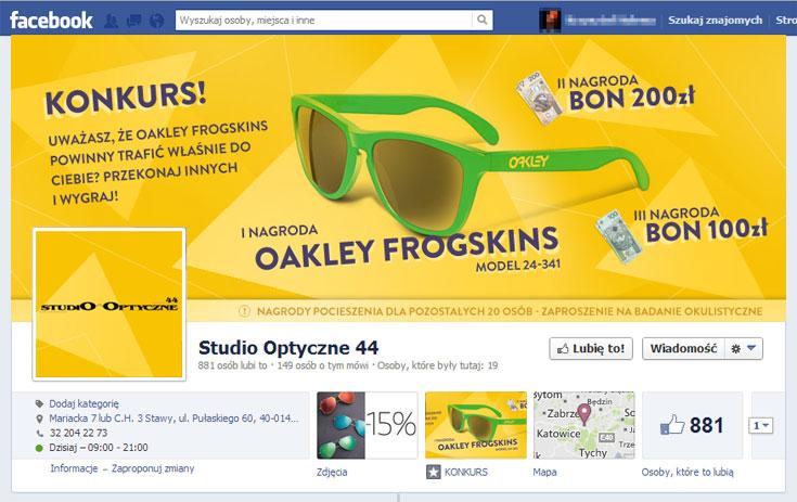 Studio Optyczne 44 - konkurs facebook
