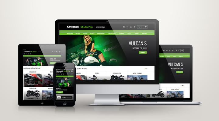 Delta Plus - responsywny serwis internetowy