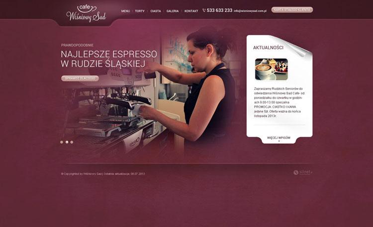 Strona internetowa Wiśniowy Sad Cafe
