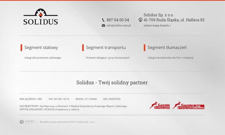 Solidus - strona www