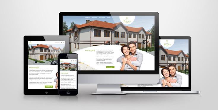 Domy Borowa - responsywny serwis internetowy