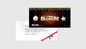 Restauracja Borim - kartka Świąteczna