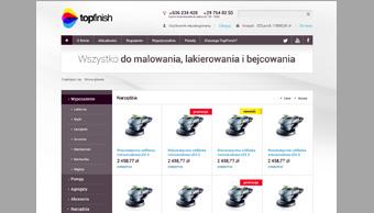 Sklep internetowy topfinish - karta produktu