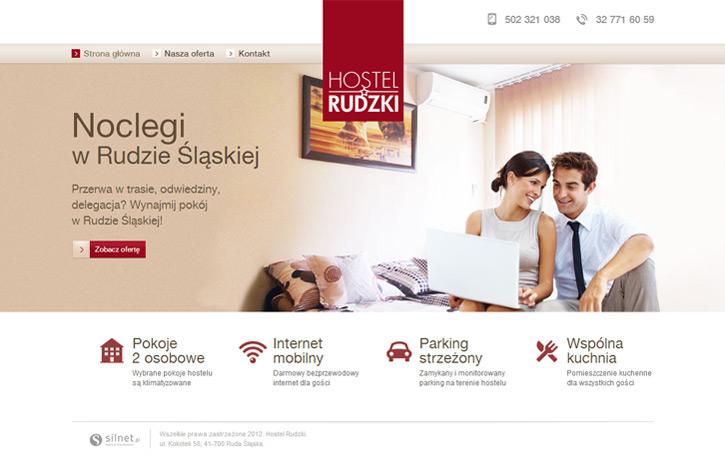 Strona wizytówkowa Hostel Rudzki