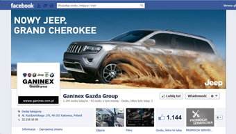 Profil facebook - cover photo Jeep Grand Cherokee