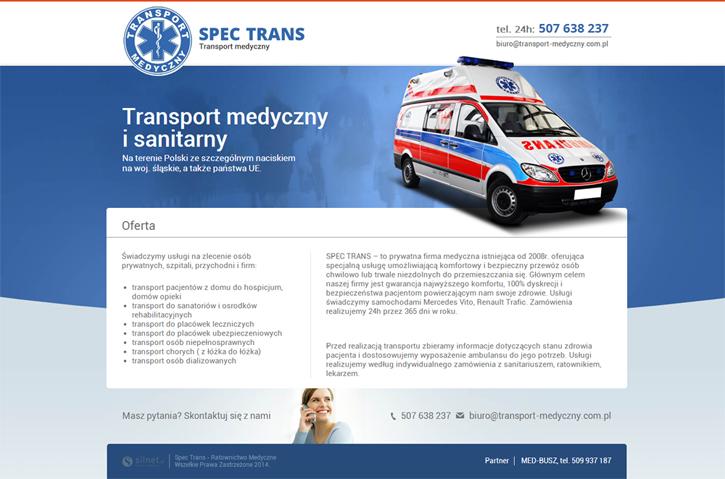 Spec Trans - strona wizytówkowa