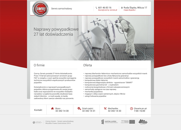 Czerny Serwis - strona wizytówkowa