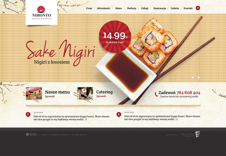 Restauracja Nihonto - strona internetowa
