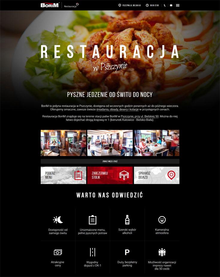 Restauracja Borim - serwis internetowy