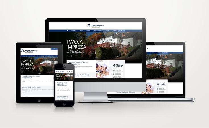 Strona internetowa Restauracji Parkowej