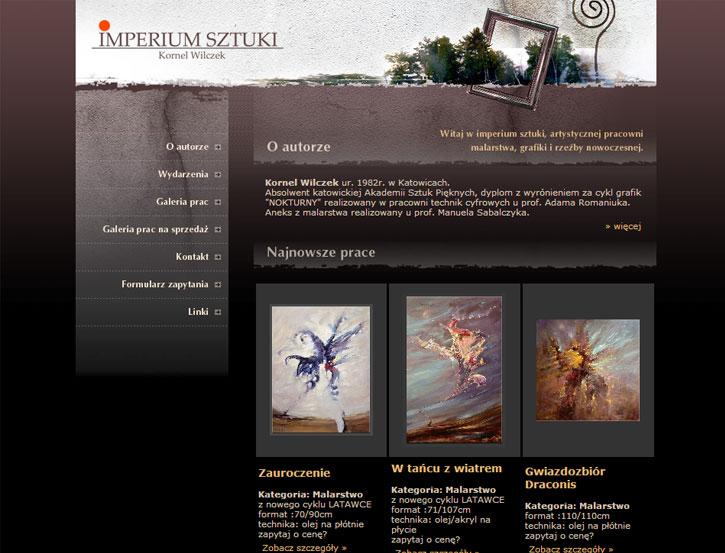 Imperium Sztuki - serwis internetowy