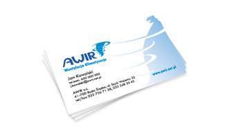 Awir - wizytówka imienna