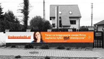 Krakowska56 - reklama zewnętrzna