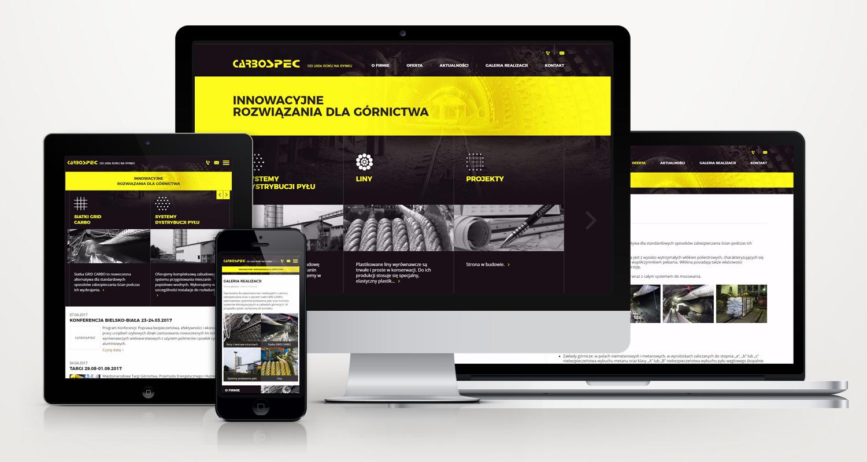 Carbospec - strona internetowa w technologii RWD