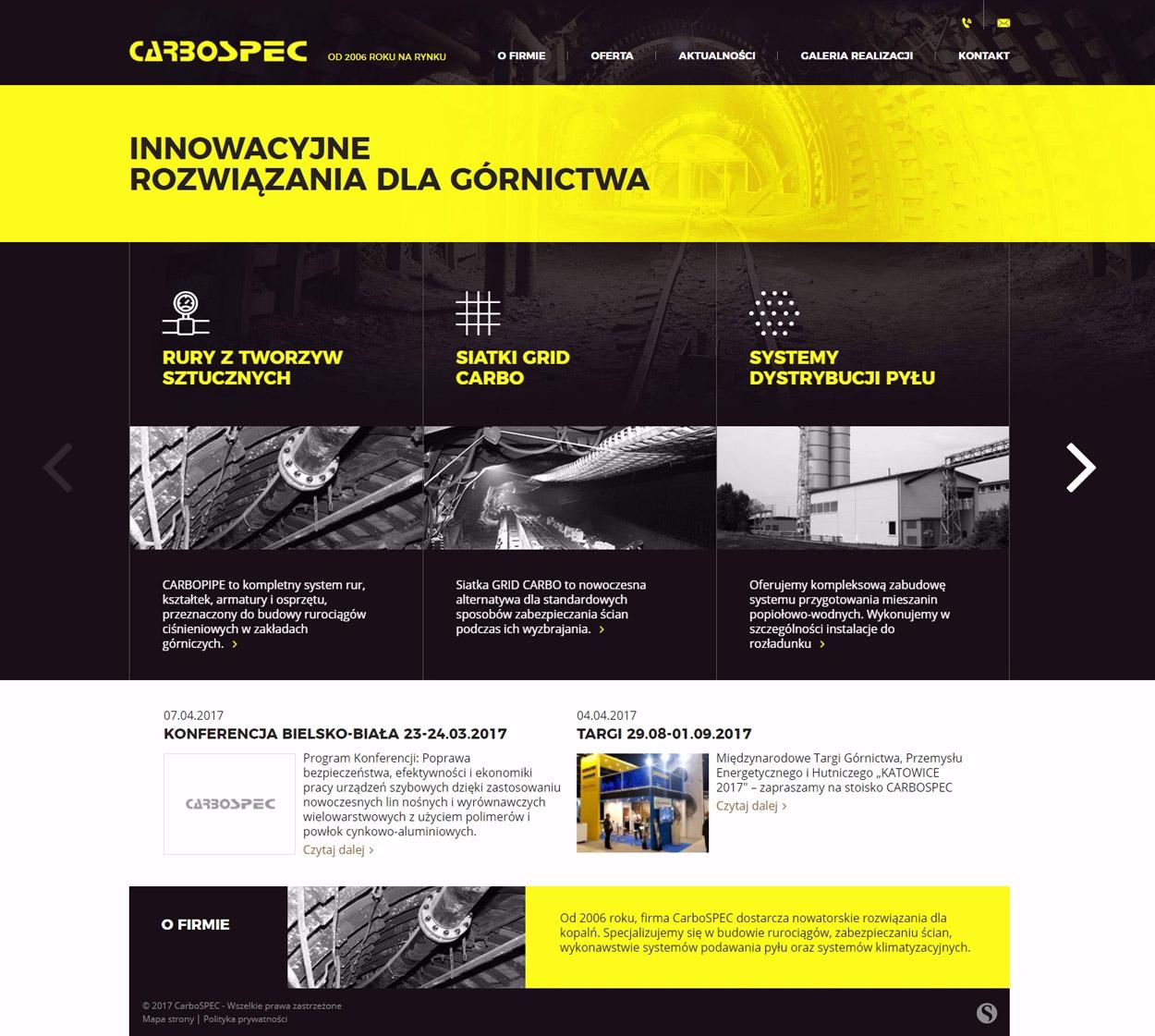 Carbospec - strona internetowa