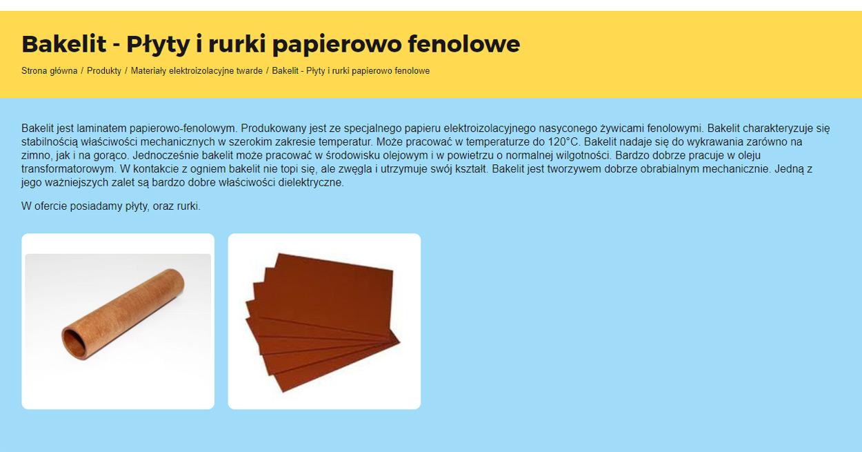 Voltrog - strona www podstrona ofertowa