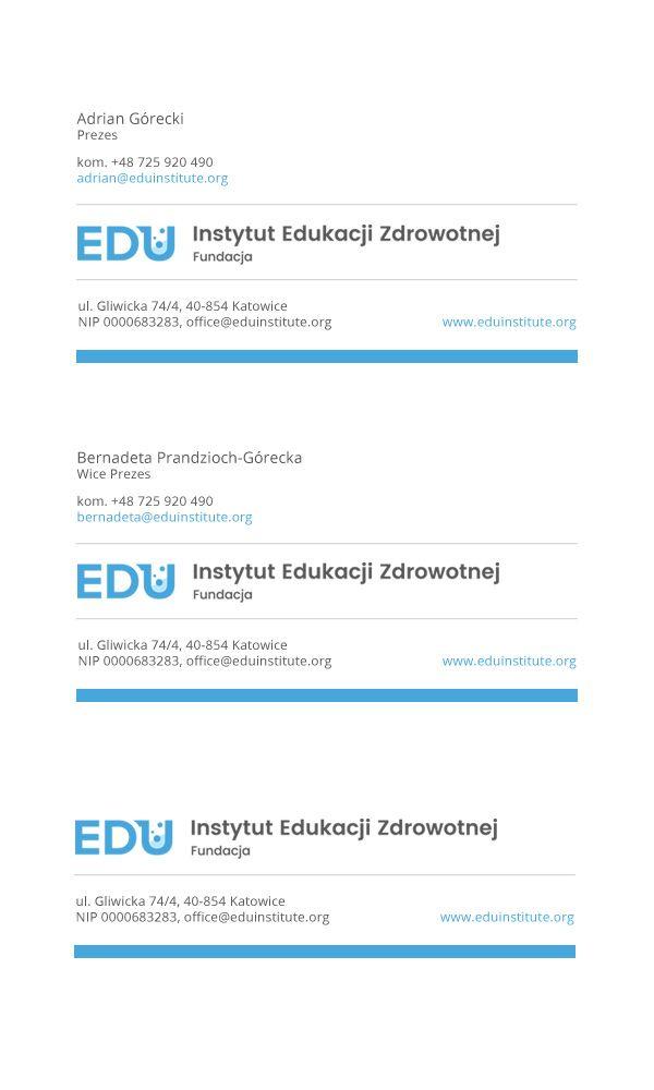 Instytut Edukacji Zdrowotnej - stopki e-mail