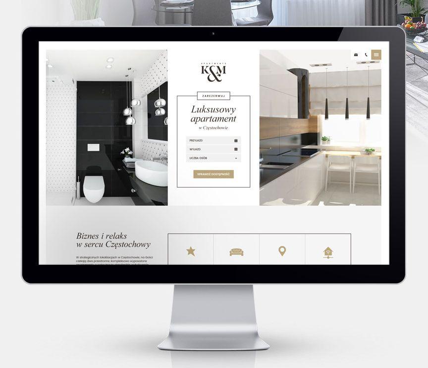 Strona www i pakiet projektów dla K&M Apartments